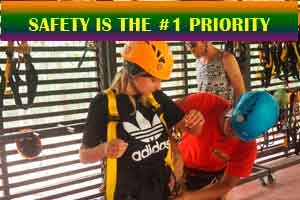 Safety is our first priority at Angkor Zipline, ATV, and Adventure Sports