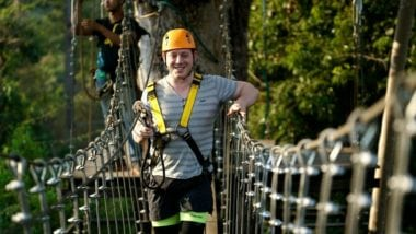 Man Of Sky Bridge At Angkor Zipline